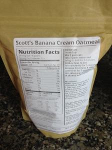 Banana Cream Pie Oatmeal Blend